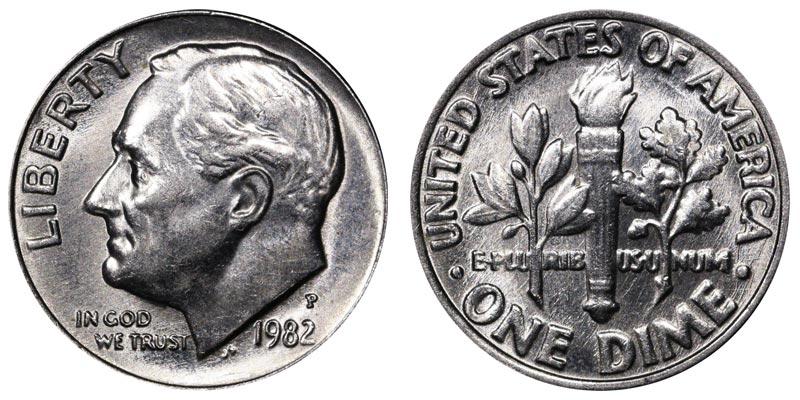 1982 P Roosevelt Dime BU US Coin