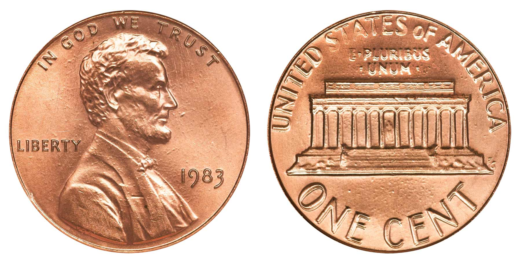 1983 Lincoln Memorial Penny Doubled Die Reverse Coin Value