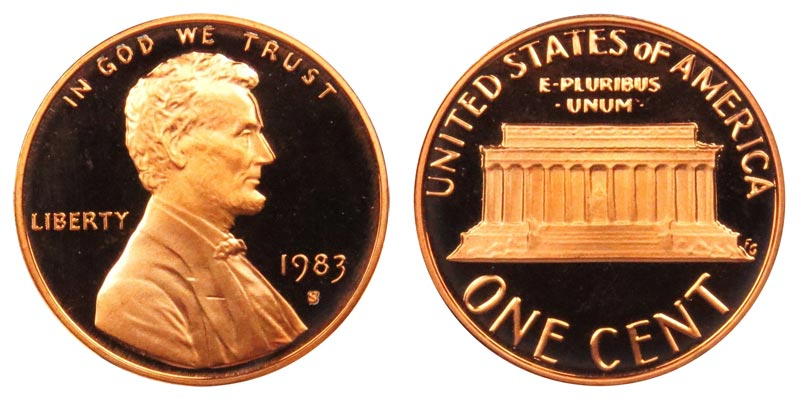 1983 S PROOF** LINCOLN CENT