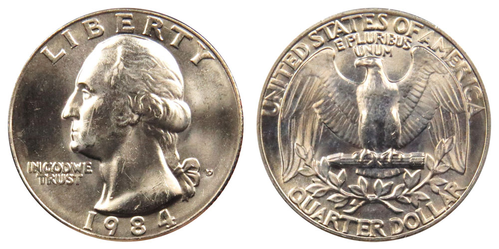 1984 D  Washington Quarter BU