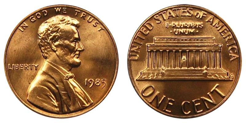 1985 Lincoln Memorial Penny Coin Value Prices Photos Amp Info