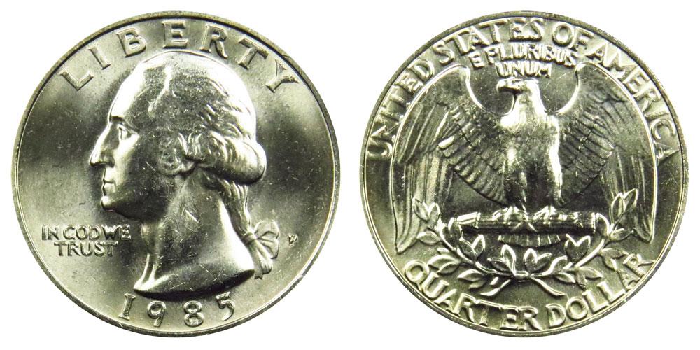1984 P/&D Washington Quarters
