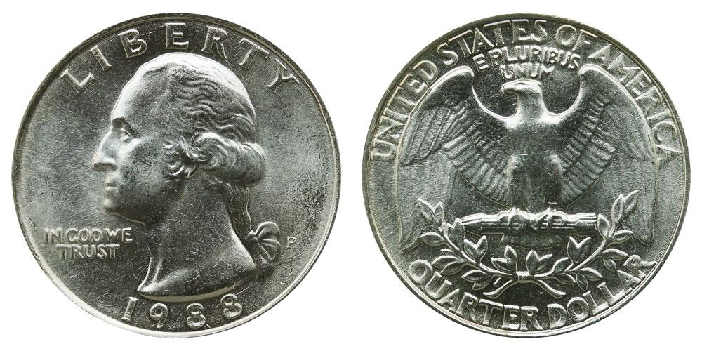 1988 P Washington Quarter Coin Value Prices Photos Amp Info