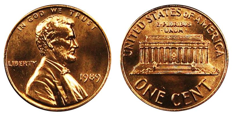 1989 Lincoln Memorial Penny Coin Value Prices, Photos & Info