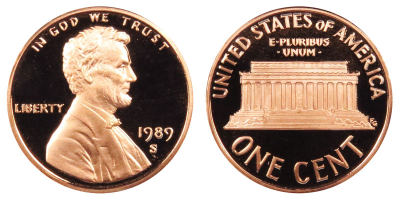 1989 S Lincoln Memorial Cent Penny Value And Prices