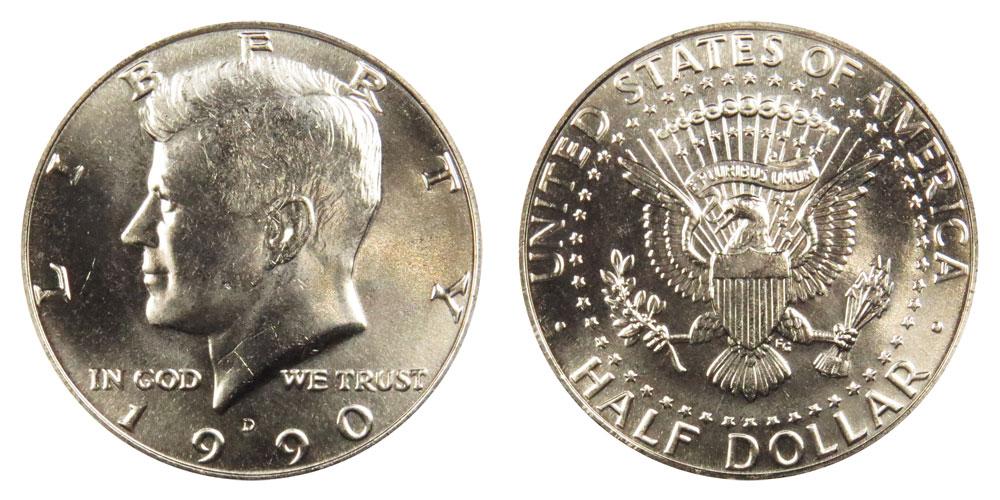 1990 D Kennedy Half Dollar Coin Value Prices, Photos & Info