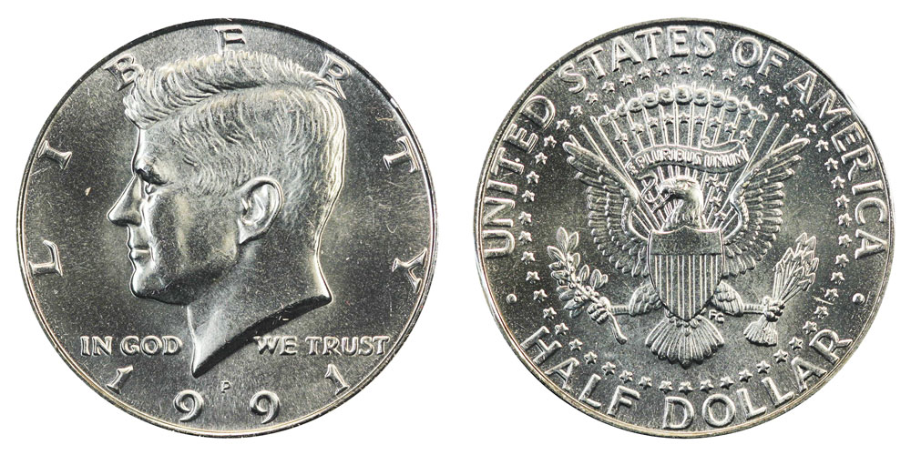 1991 Fifty Cents From Mint Roll