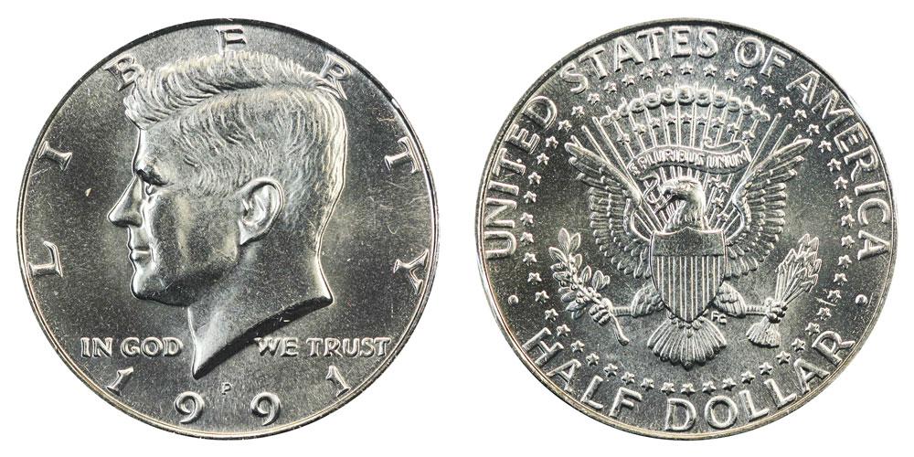 Mint Kennedy Half Dollar Gem Proof 1991-S U.S