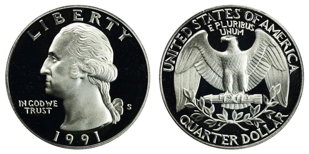 1991 S Washington Quarter Coin Value Prices, Photos & Info