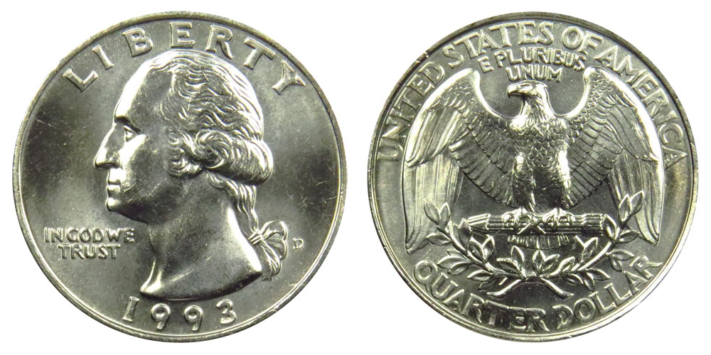 1993 D Washington Quarter Coin Value Prices, Photos & Info