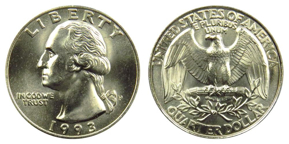 1993 P Washington Quarters: Value and Prices