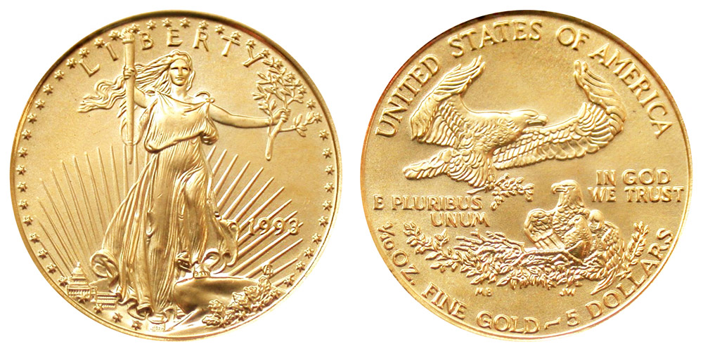 1993 American Gold Eagle Coins