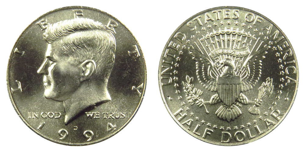 1994 D Kennedy Half Dollar in BU condition