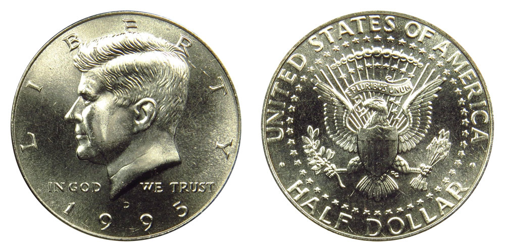 1995 d half dollar coin value