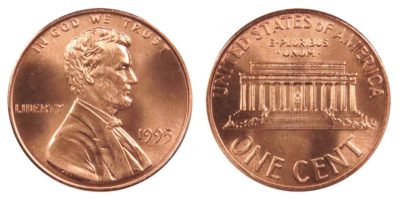 1995P USA Small Cent ~~UNCIRCULATED~~
