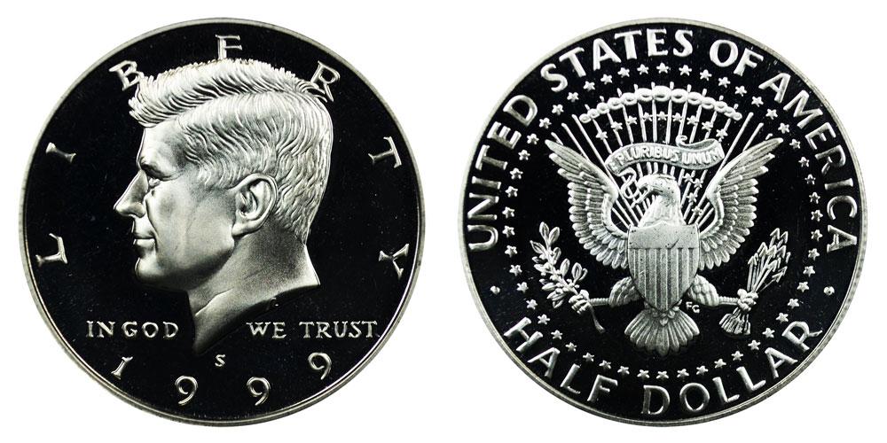 1999-S Proof Kennedy Half Dollar