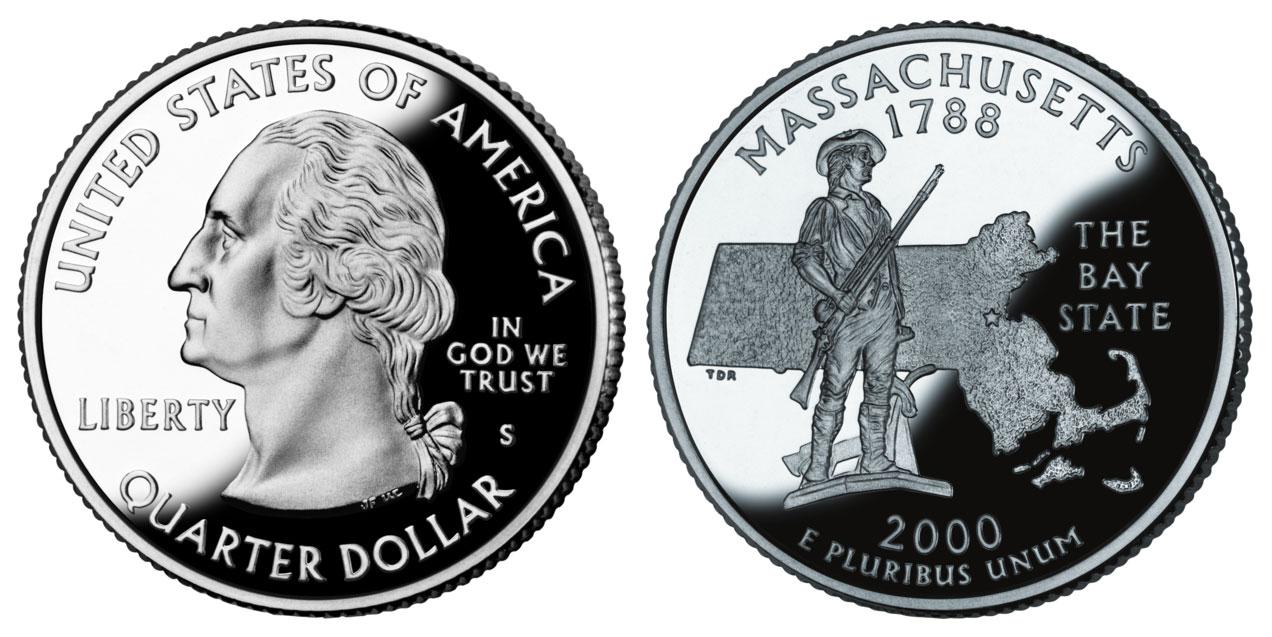 2000 S Massachusetts State Quarter Silver Proof Coin Value