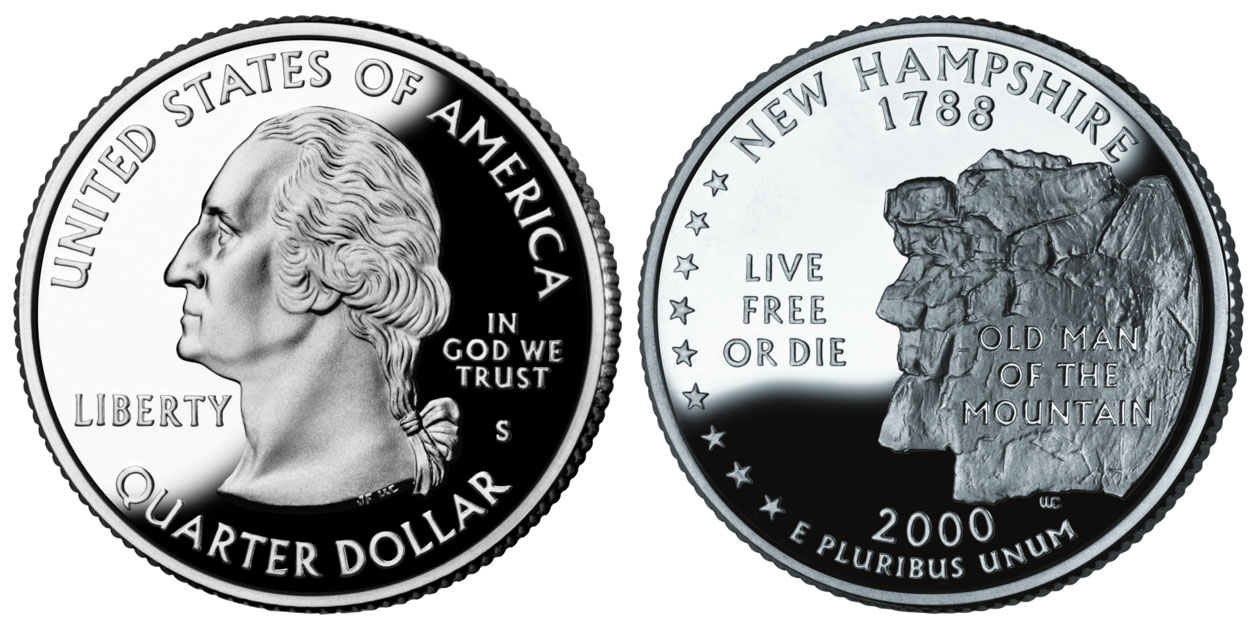2000 S New Hampshire State Quarter Silver Proof Coin Value