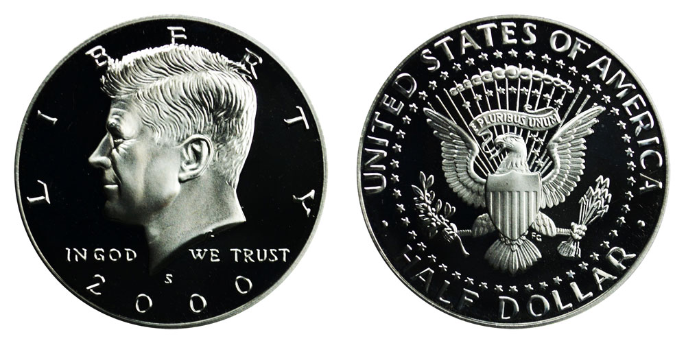 Silver Proof Kennedy Half Dollar-One Roll  2000 S