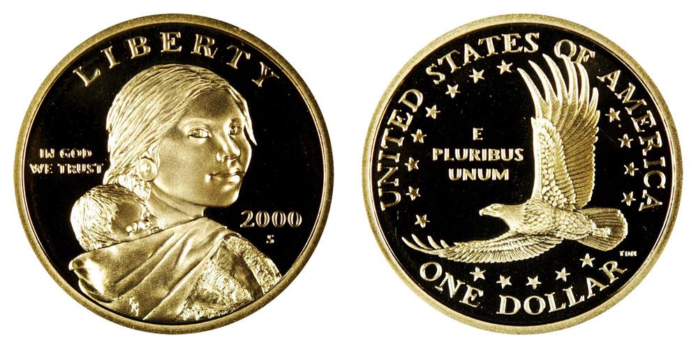 2000 S Gem Proof Sacagawea Native American Dollar