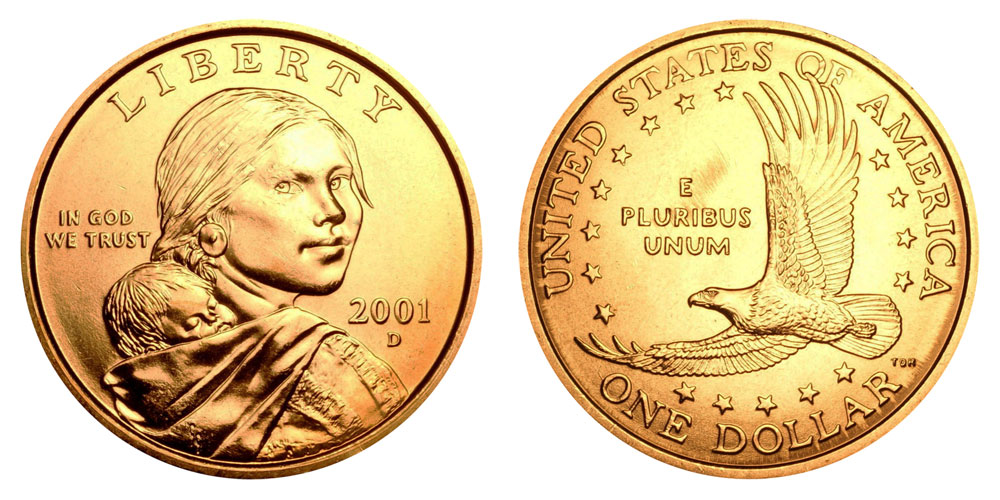 2001 D Sacagawea Dollar Golden Dollar Coin Value Prices