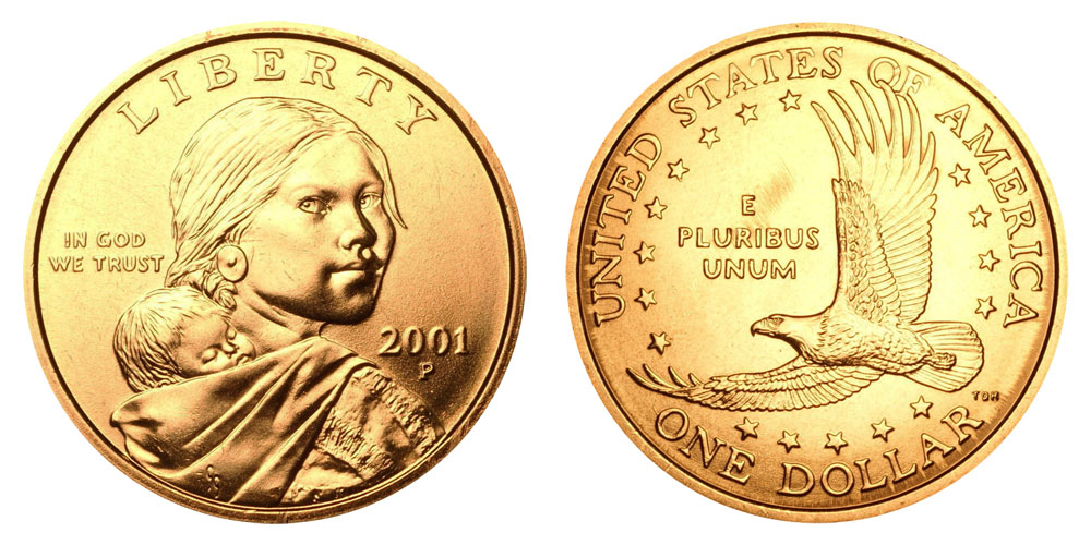2001-P SACAGAWEA DOLLAR BRILLIANT UNCIRCULATED in Littleton Coin Packaging