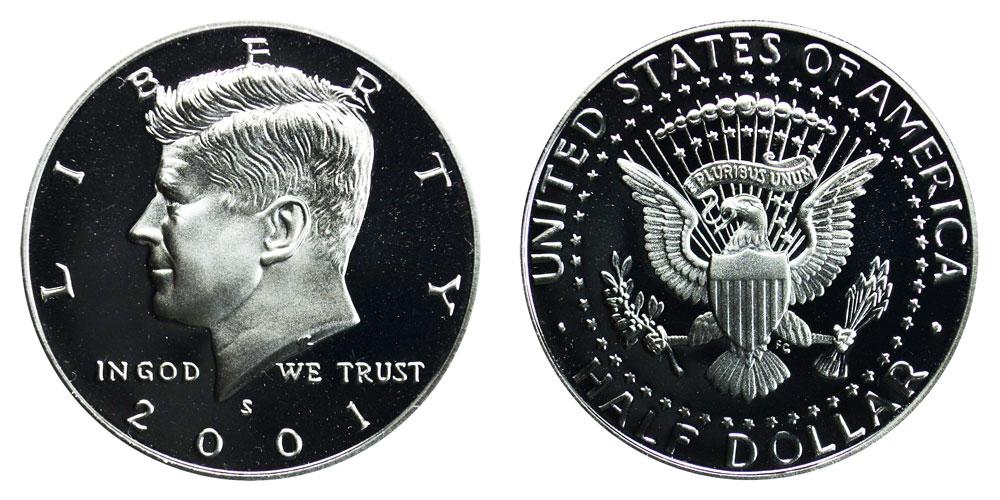 2001-S Silver Kennedy Half Dollar PR-69 PCGS