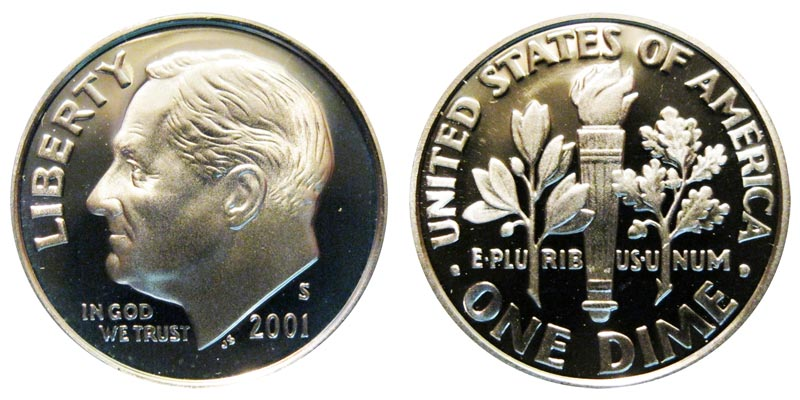 2001-S-- SILVER ---PROOF ROOSEVELT DIME/>/>/>BEAUTIFUL