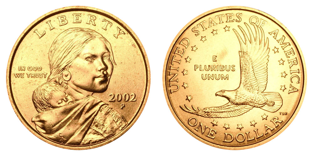 sacagawea dollar coin 2000 p