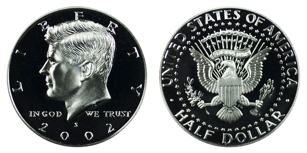 2002-S KENNEDY HALF DOLLAR GEM DEEP CAMEO PROOF US COIN