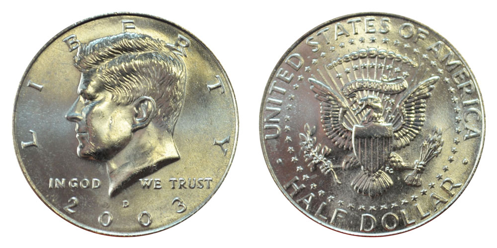 2003 S Proof SILVER Kennedy Half Dollar Coin 50 Cent US JFK Fifty Cents