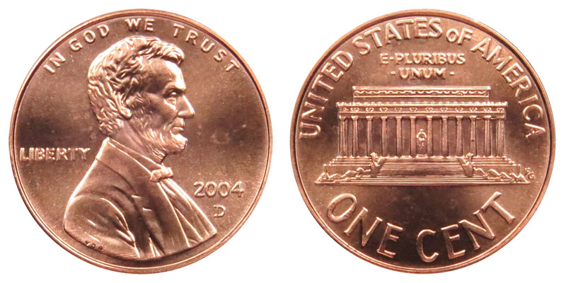 2004 D Lincoln Memorial Penny Coin Value Prices Photos Amp Info