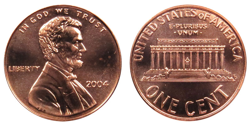"""2004 S PROOF LINCOLN MEMORIAL CENT PENNY /""""Free Shipping/"""""""