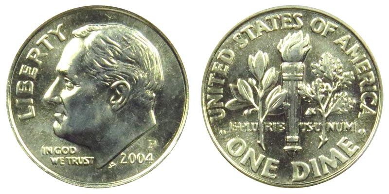2004 P Roosevelt Dime Coin Value Prices, Photos & Info