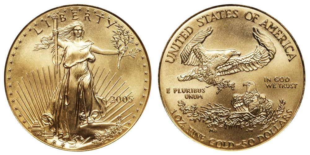Gold Eagle Bullion Coin 50 One Ounce
