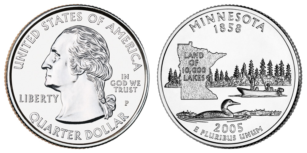 2005 P Minnesota State Quarter From Uncirculated Mint Sets Combined Shipping