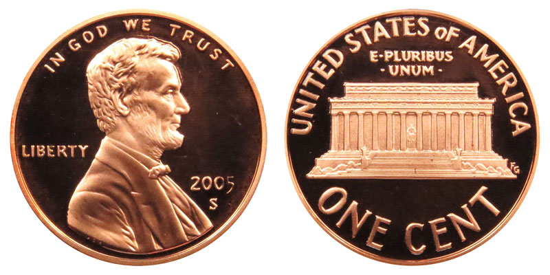 2005-S GEM PROOF RED Lincoln Cent Penny FREE SHIPPING ON ADDITIONAL COIN