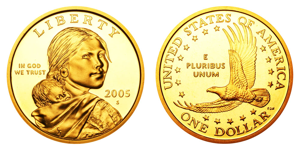 2005 S SAC $ 1 Proof Sacagawea Dollar Native American Dollar **Free Shipping**