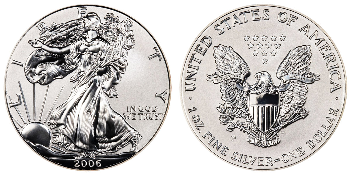 2006 American Silver Eagle Bullion Coin Reverse Proof One
