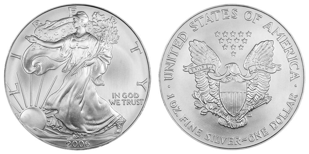 2006 W American Silver Eagle Bullion Coin Bullion No Mint