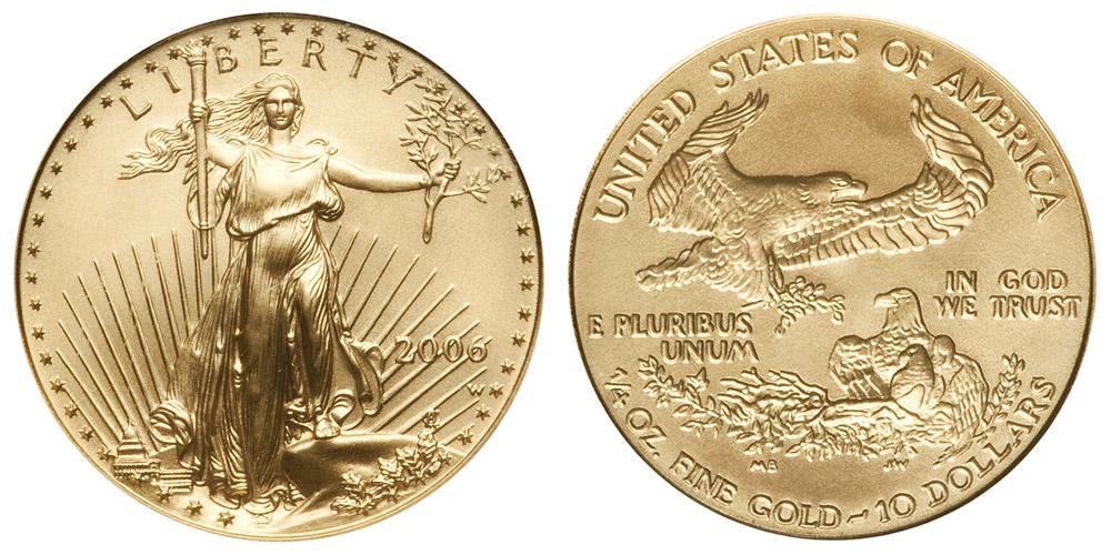 2006 W American Gold Eagle Bullion Coin Burnished 10