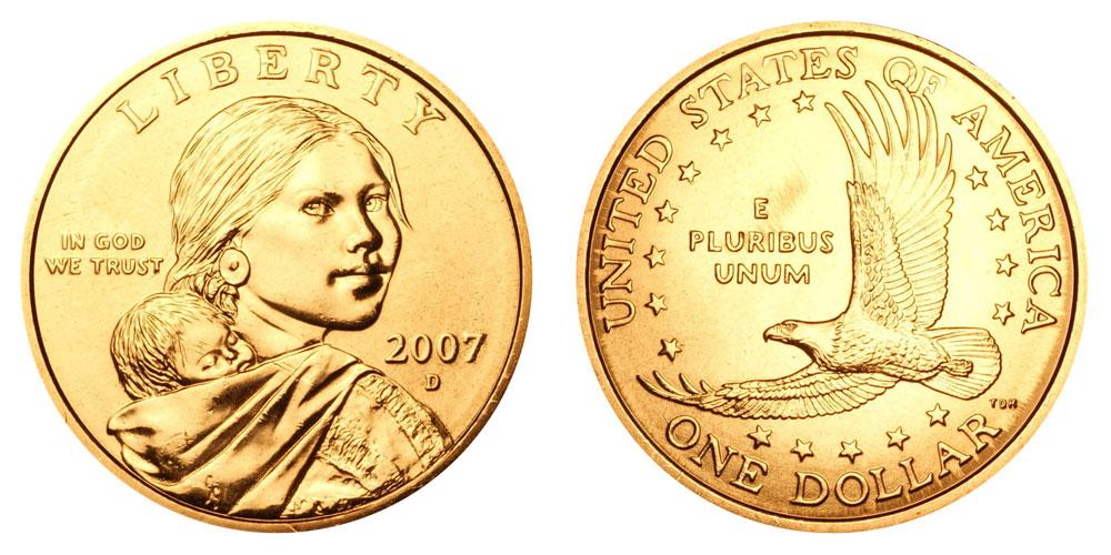 "2007-D Sacagawea Native American $1 Dollar US Mint Coin /""Brilliant Uncirculated/"""
