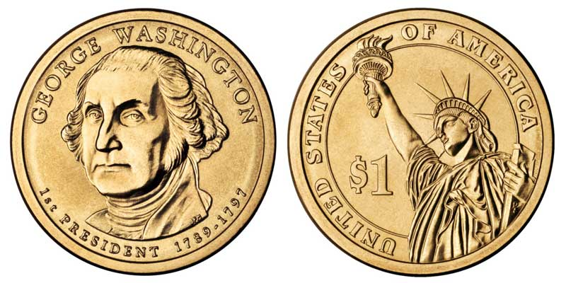 george washington 1 dollar coin