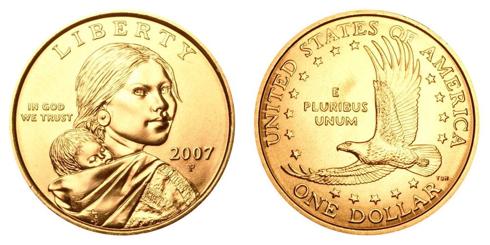 Mint Roll 2000 P Sacagawea Dollar ~ With Eagle in Flight Reverse ~ BU from U.S