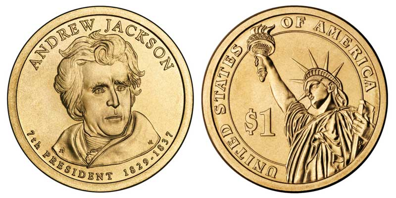 "2008  Andrew Jackson Presidential Dollar Coin US  /""Brilliant Uncirculated/"""