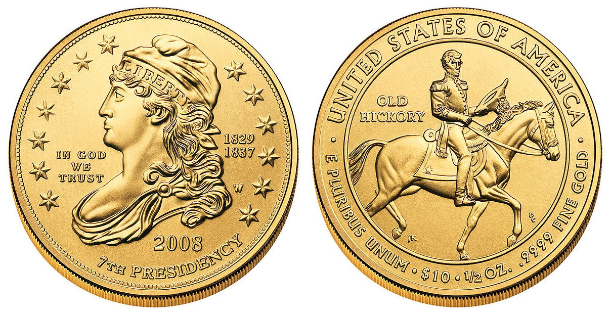 2008 W First Spouse Bullion Coins Andrew Jackson S Liberty