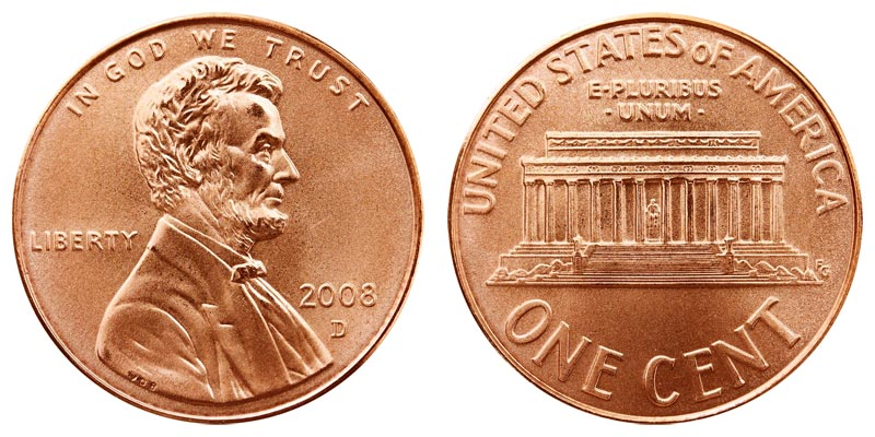 Uncirculated Lincoln Memorial Cent 2008 D