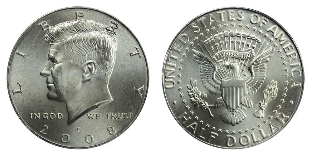 Kennedy 2008 Silver Gem Proof Half Dollar