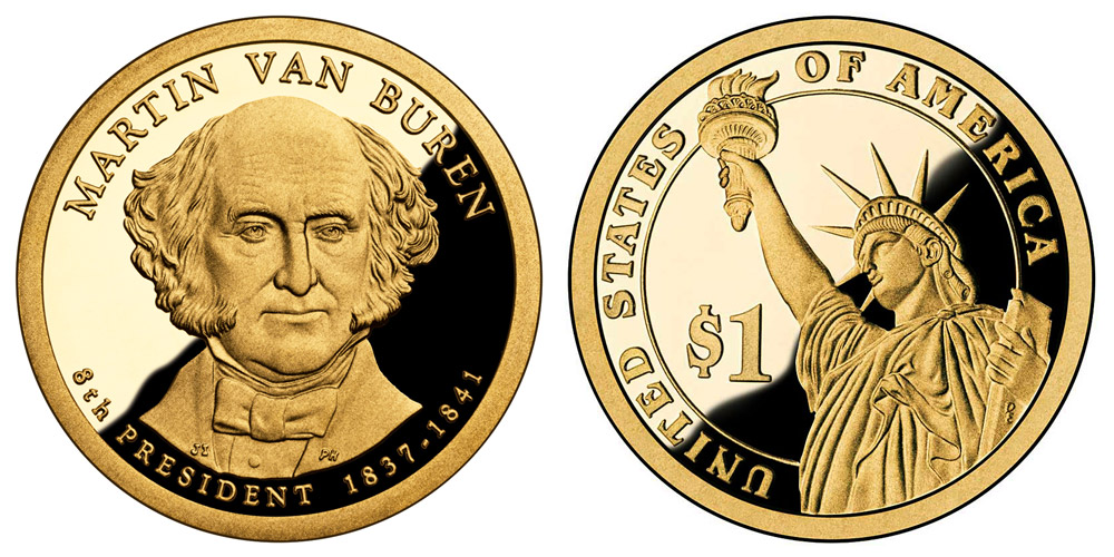 3 Coin Set All 2008 D Martin Van Buren Presidential Golden Dollar BU Gold $1