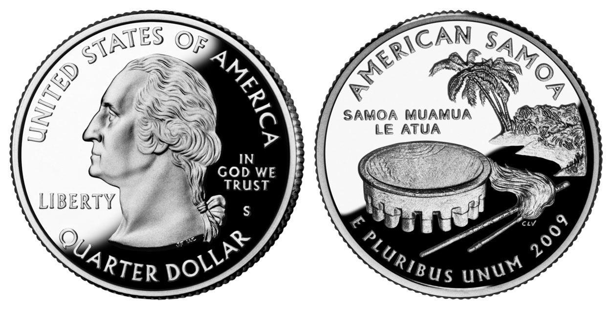 2009 S American Samoa State Quarters Silver Proof Value